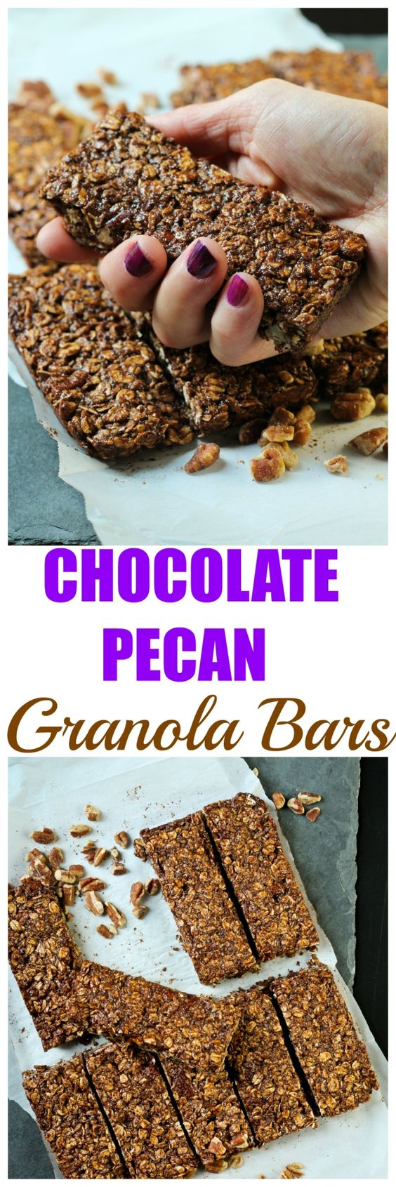You only need 8 ingredients to make these amazing Chocolate Cinnamon Peanut Butter Granola Bars. They are vegan, gluten-free and no added oils! These are so delicious and made with wholesome ingredients, that you will never need to buy preservative a