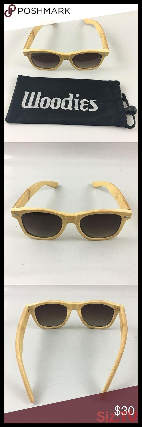 WOODIES Light Grain Full Bamboo Wood Sunglasses WOODIES Light Grain Full Bamboo Wood Sunglasses w Bag In good condition woodies Accessories SunglasseWOODIES Light Grain F...
