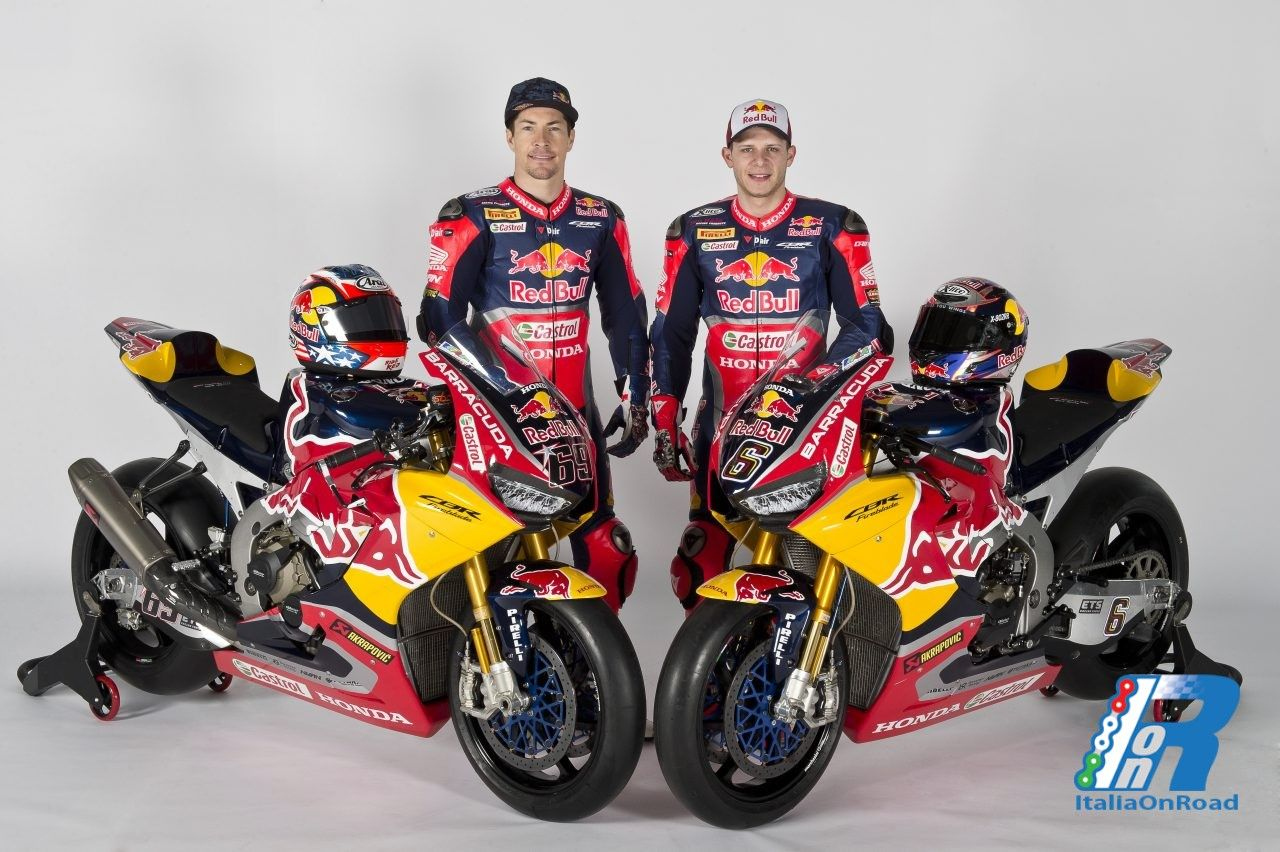 Svelata la livrea del team Red Bull Honda World Superbike