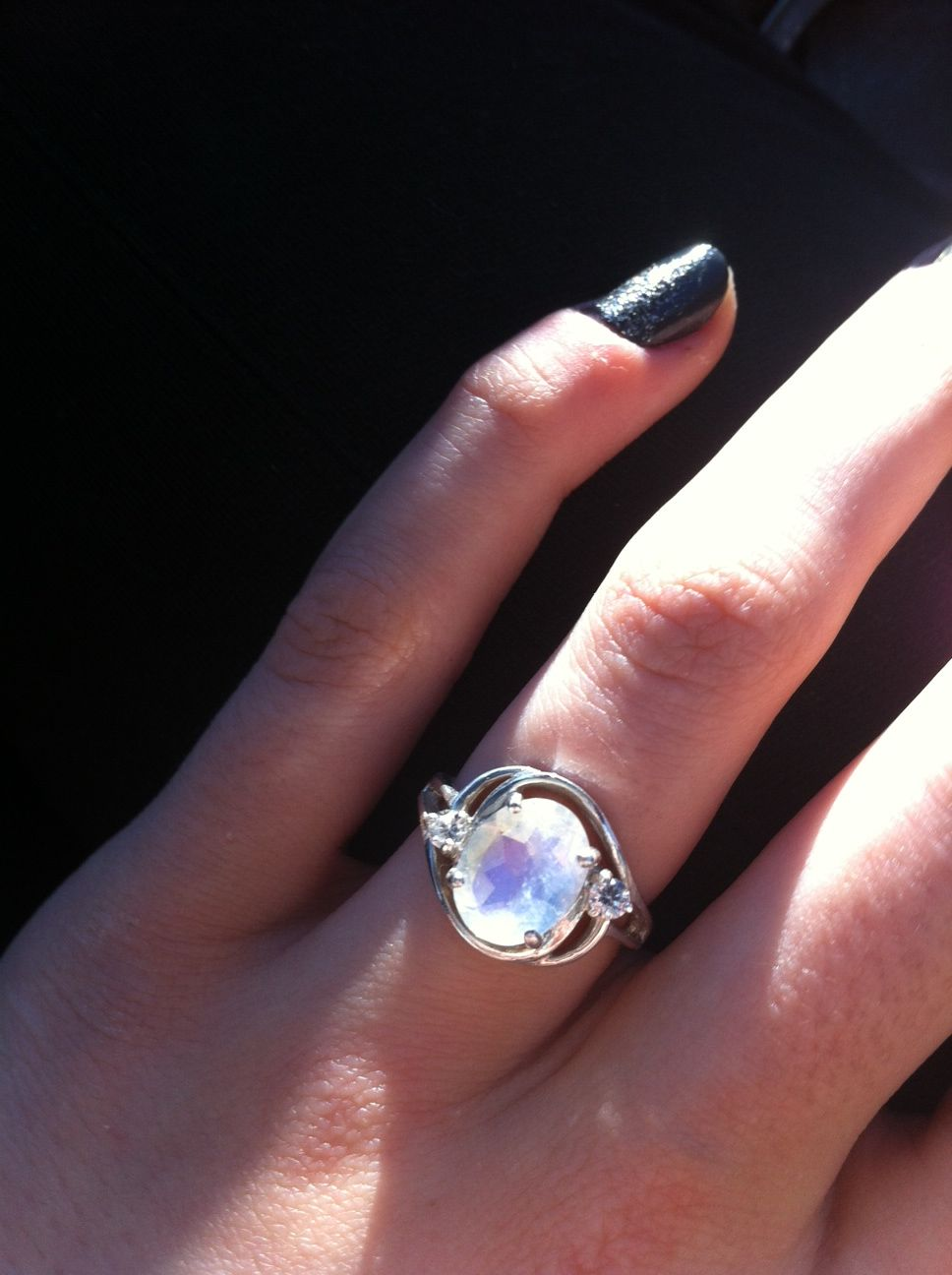 Rainbow moonstone engagement ring ideas pinterest rainbow