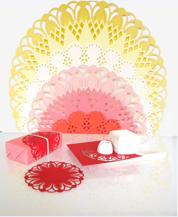Diy your own party decorations and special cards with the for Pre punched paper for crafts