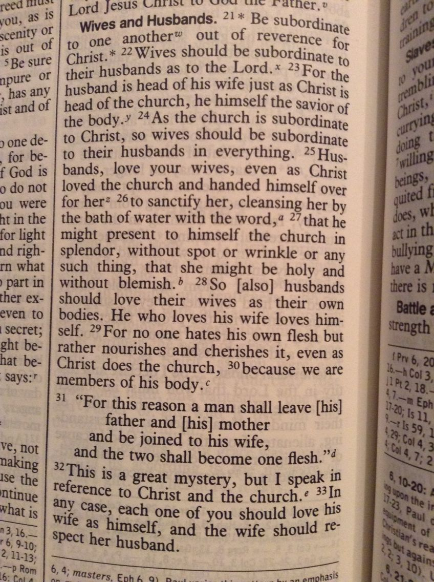 I want this as one of our wedding readings! Ephesians 521
