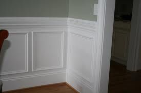 2 Piece Chair Rail Wainscoting Styles Dining Room Wainscoting Faux Wainscoting