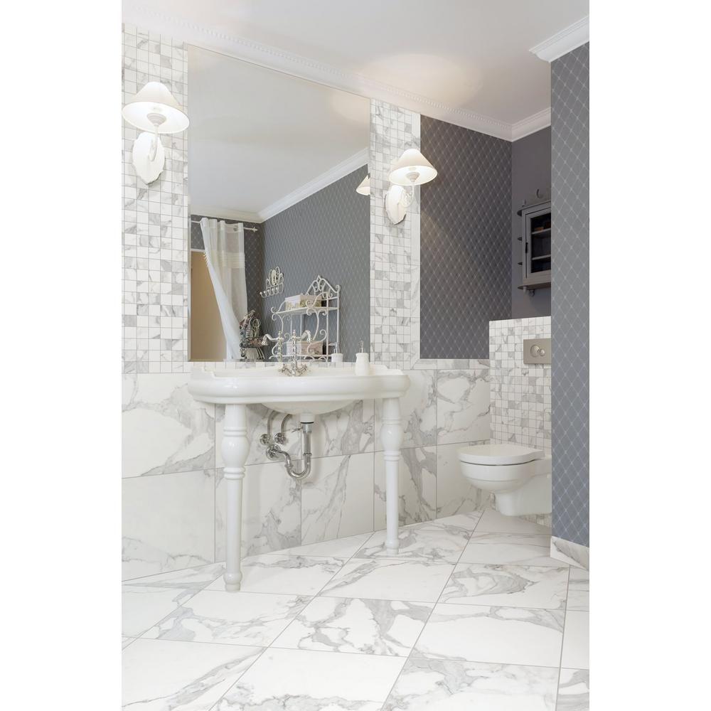 Floor And Decor Bathroom Tile Prepossessing Dimarmi Bianco Porcelain Tile  Porcelain Tile Porcelain And Bath Inspiration Design