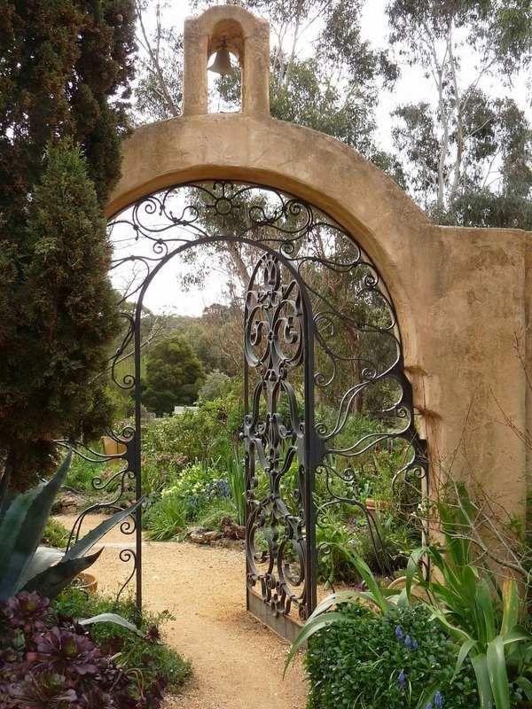 Metal Garden Gates Unique Wrough Iron Gates Design Ideas Garden Decorating  Ideas