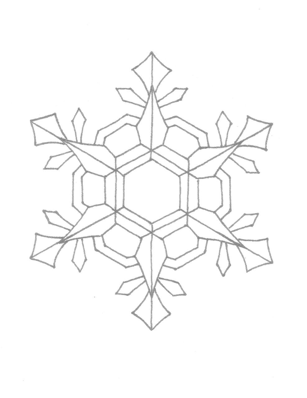 Coloring Pages Snowflake Patterns | ... post about how to draw ...