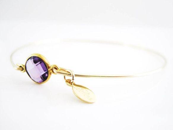 Precious Stone Gold Bangle <3