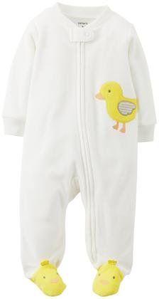 Carter's Graphic Fleece Footie (Baby) - Duck