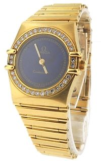 Omega Constellation 18k Yellow Gold Watch