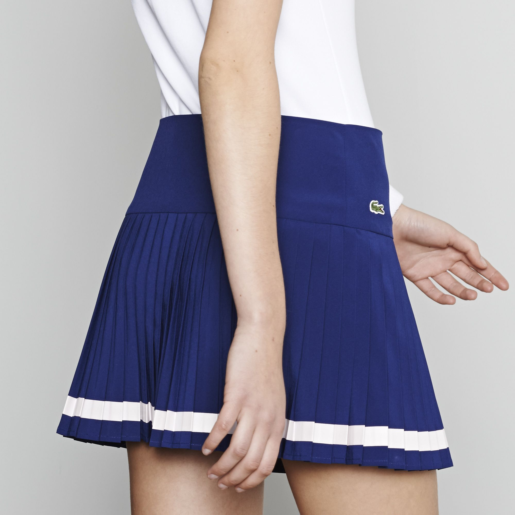 Technical Pleated Skirt With Built In Short Lacoste