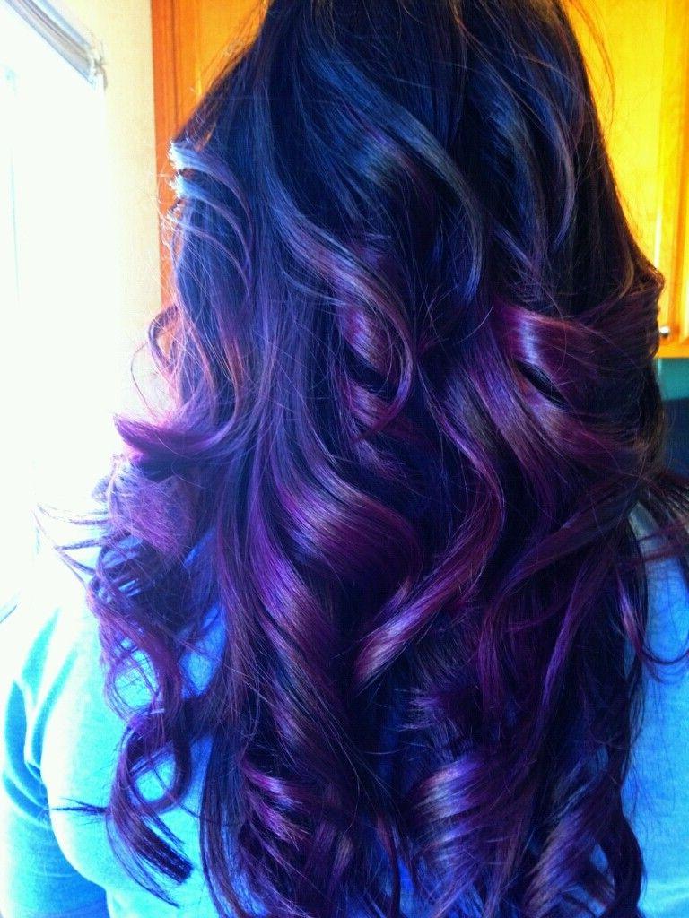 Black Hair With Purple Highlights Tumblr