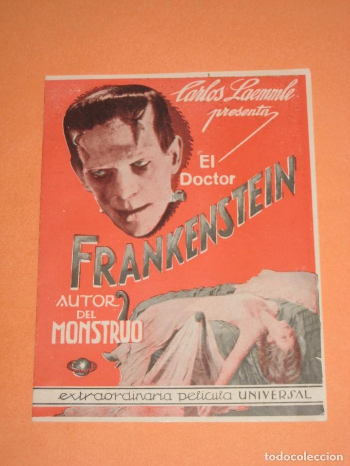 EL DOCTOR FRANKENSTEIN. Programa original con publicidad de DRÁCULA. - Foto 1