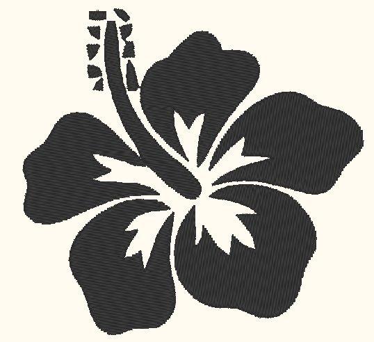 Fleur hawa enne motif gratuite broderie machine - Fleure hawaienne ...