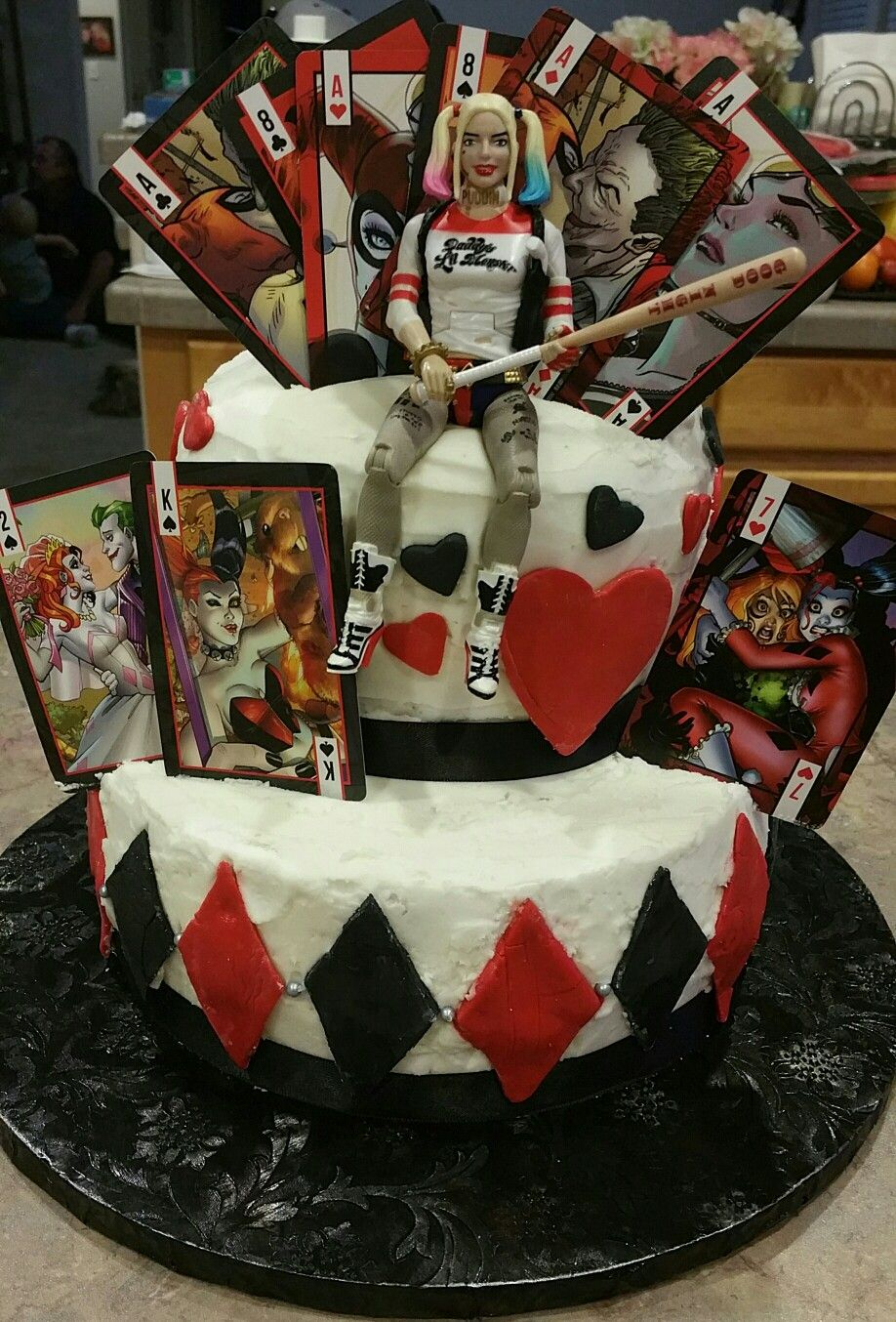 Pin By Anne Marie On Cakes Harley Quinn Joker Birthday Harley