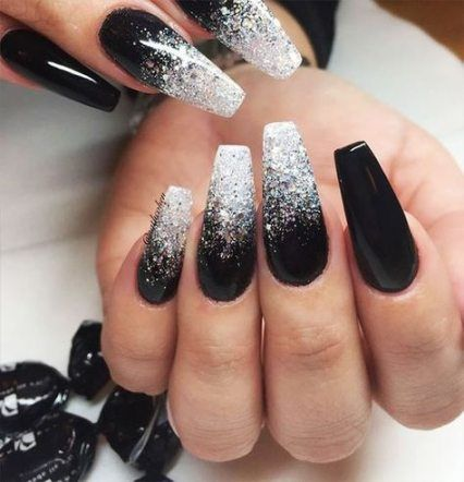 27 best ideas nails acrylic long coffin black #nails ...
