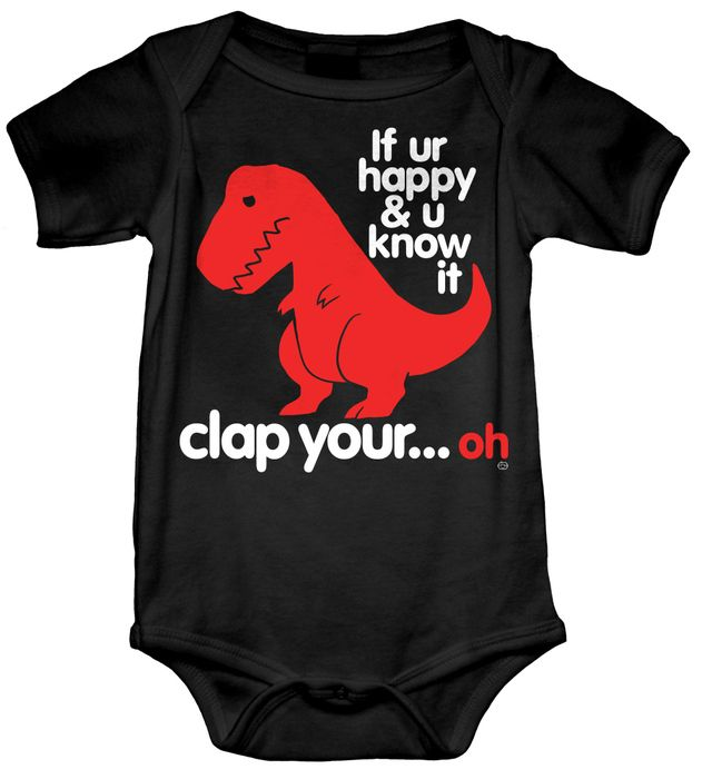 727afe95a Sad T Rex Dino Baby Onesie | For Zane | Funny babies, Baby, Baby boy ...