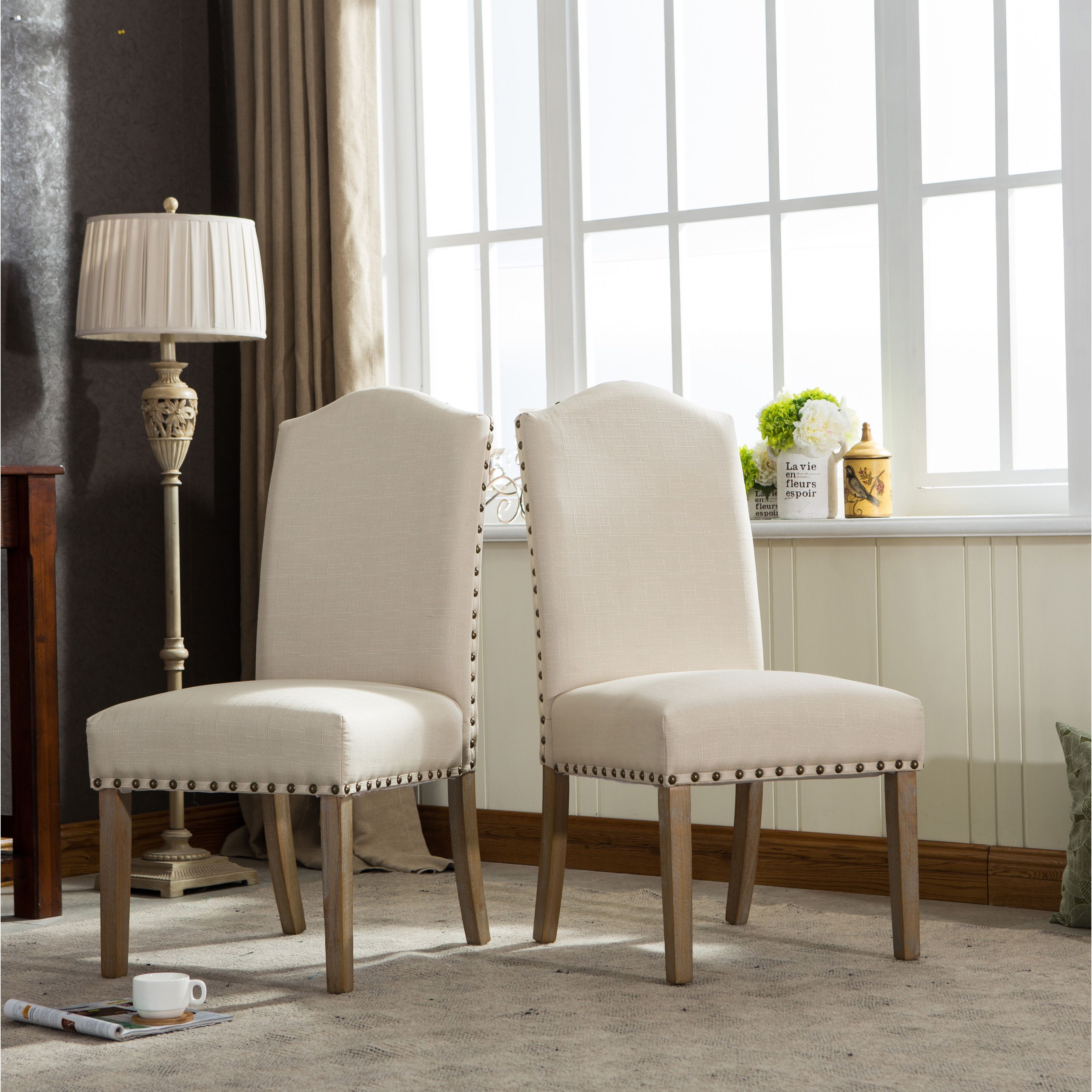 Mod Urban Solid Wood Upholstered Parson Chairs