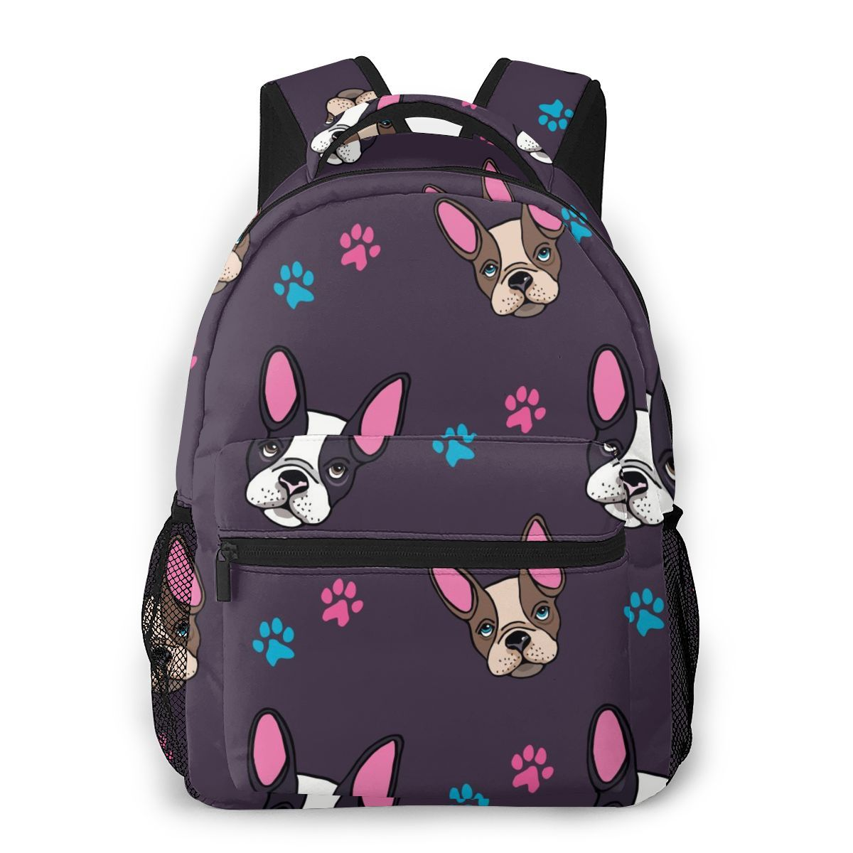 Cute French Bulldog Puppies And Paws Casual Daypack Travel