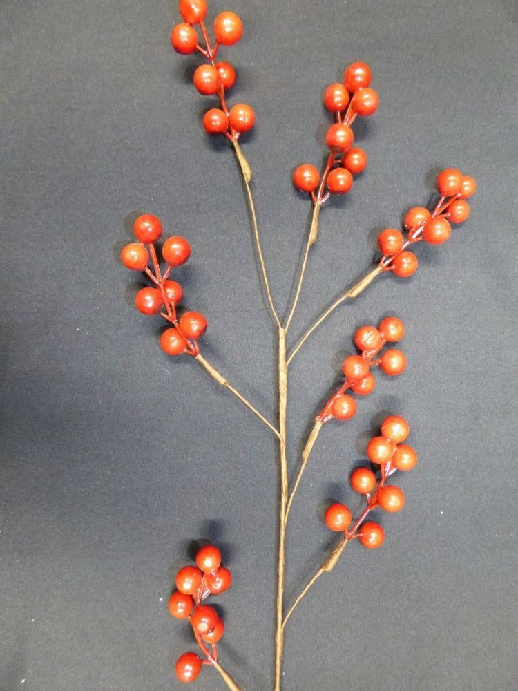 Details about Artificial Red Berry Stem Christmas Home Indoor