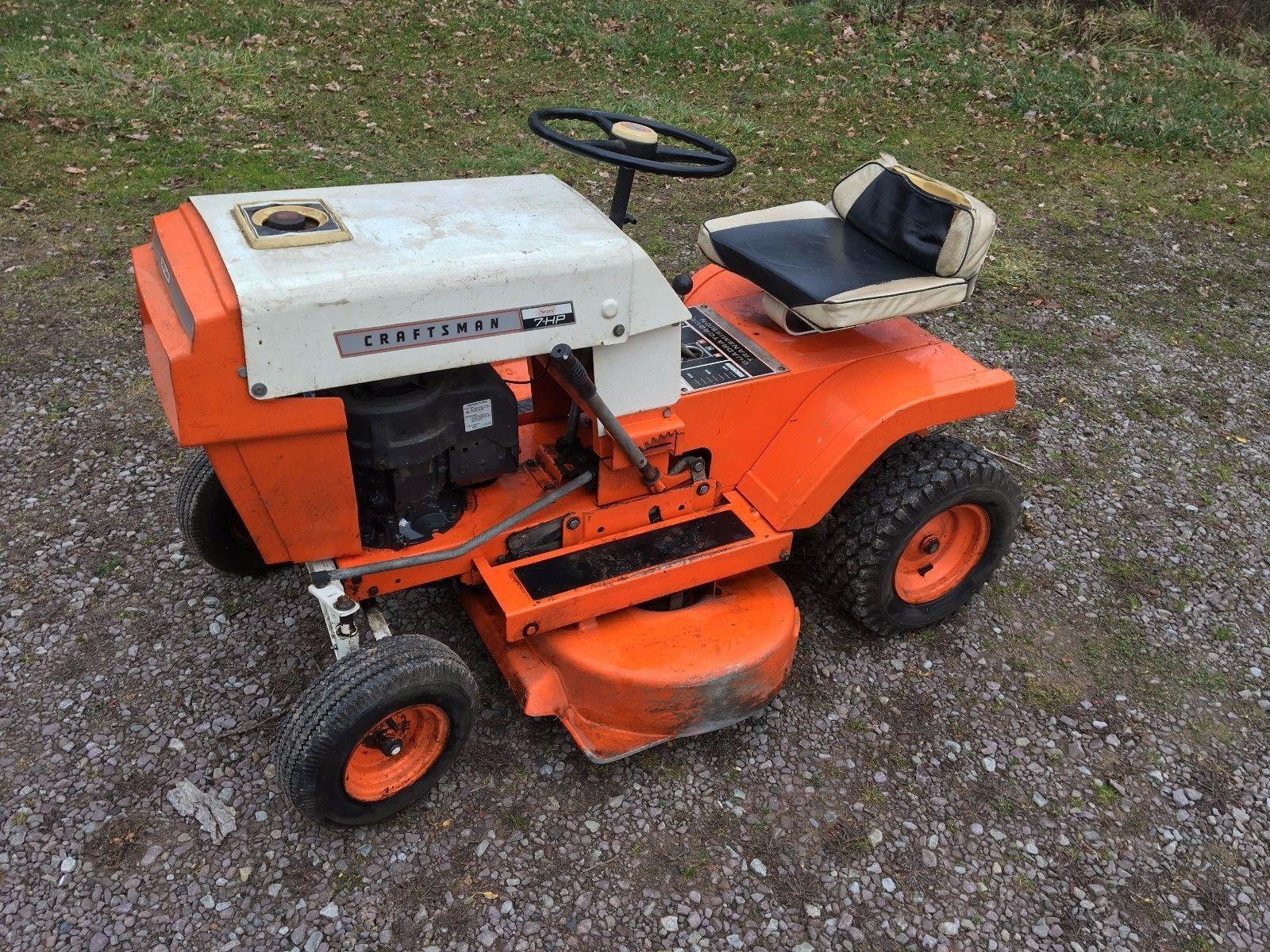 Craftsman 7hp Garden Tractor Lawn Tractor Small Tractors