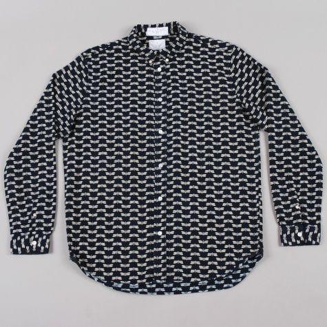 Paul Smith Yukata Cloth Dragonfly Shirt - Indigo