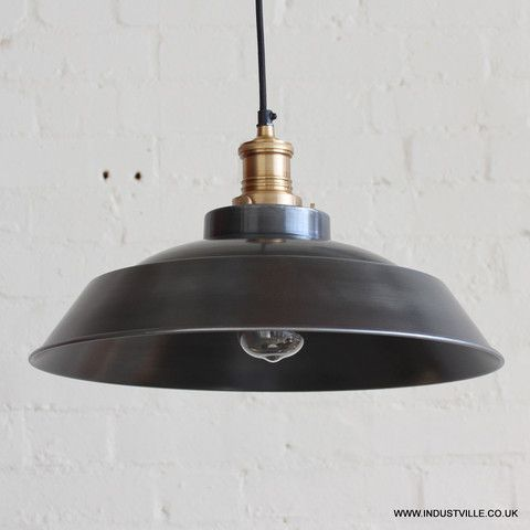 BROOKLYN STEP LAMPSHADE - DARK PEWTER GREY - VINTAGE INDUSTRIAL DESIGNER METAL RESTAURANT PENDANT LIGHT - & BROOKLYN STEP LAMPSHADE - DARK PEWTER GREY - VINTAGE INDUSTRIAL ... azcodes.com