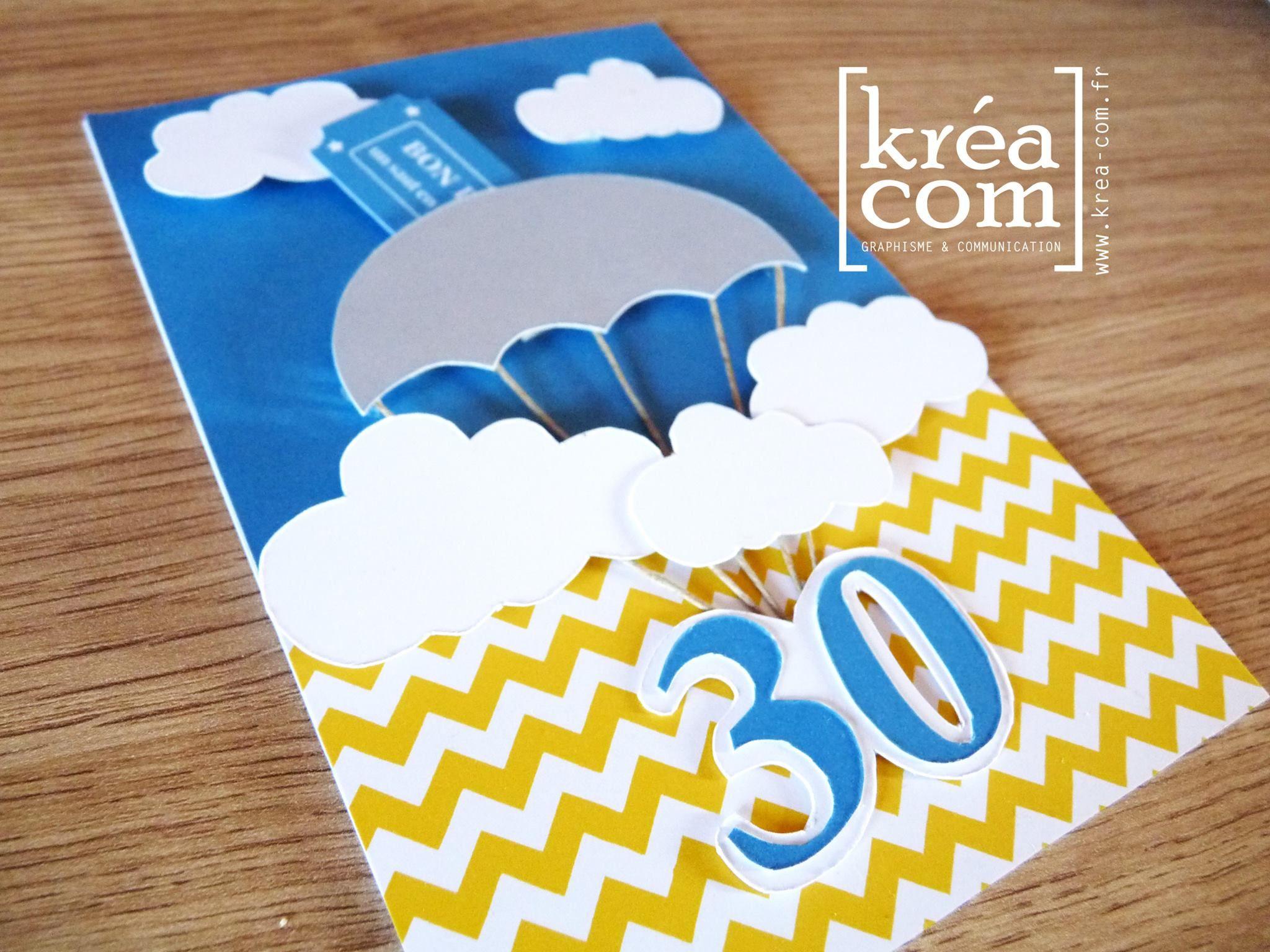Carte Invitation Anniversaire Saut Parachute 30 Ans
