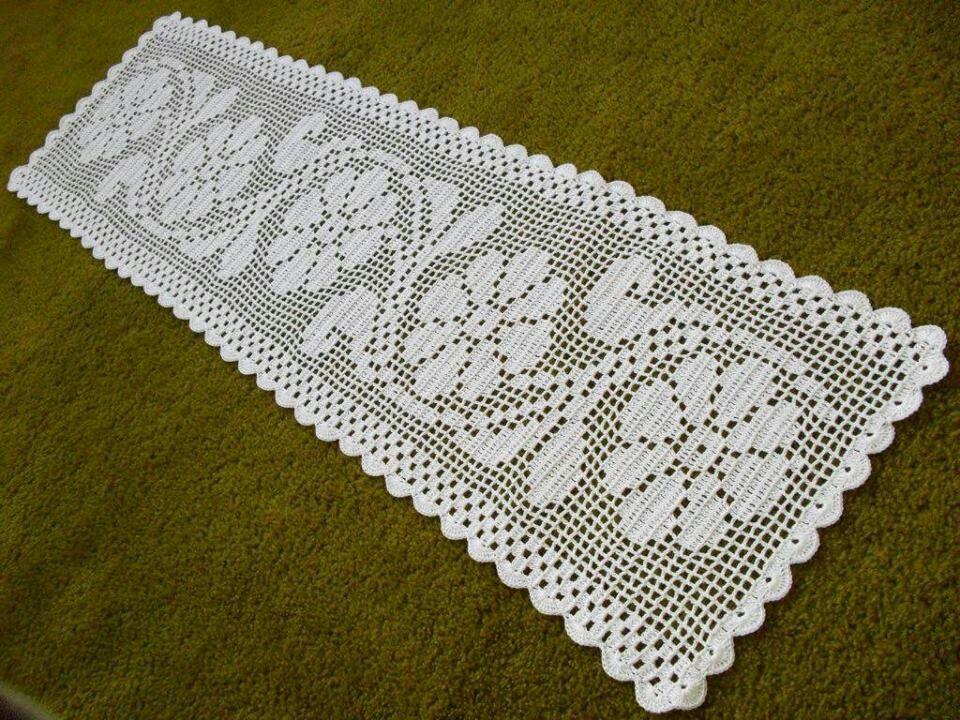 Pin de l cia maria de lima pinto en croch 5 pinterest for Centros de mesa de ganchillo