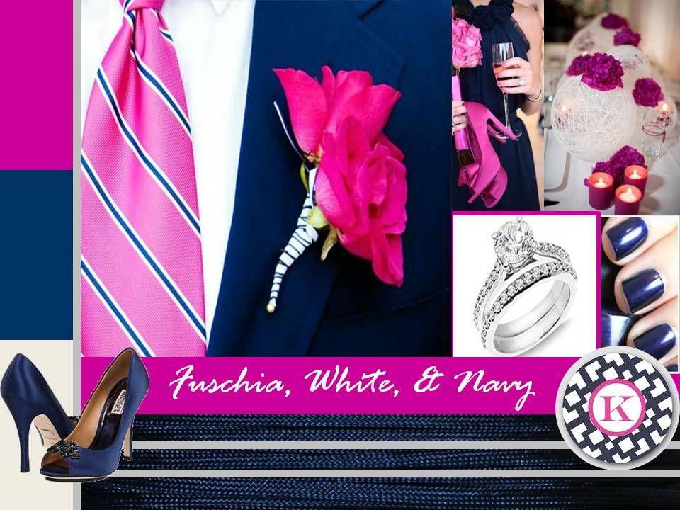 Fuschia Navy Blue Royal And Wedding Http Boldamericanevents