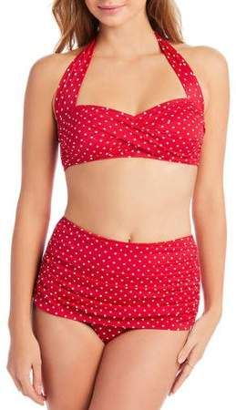 f785635e2790e Simply Slim Women s Slimming High-Waisted Bikini Two-Piece Swimsuit ...