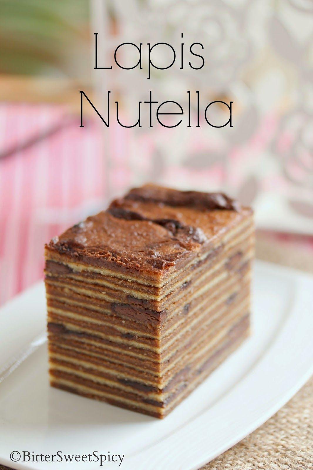 Lapis Nutella Cake Resep Nutella Kue Nutella Makanan