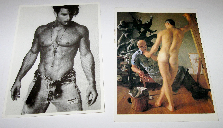 Sexy men postcards