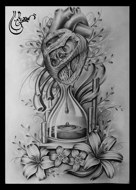 Sanduhr tattoo  Pin von Nurullah Aydın auf DÖVME FİKİRLERİ | Pinterest | Tattoo ...