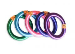 Silk Bangle Bracelets made by survivors in India - part of our Colors of Freedom Collection!
