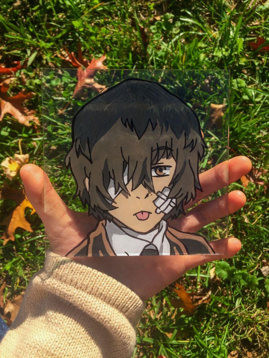 Dazai Anime Glass Painting Anime Dazai Osamu Anime Dazai
