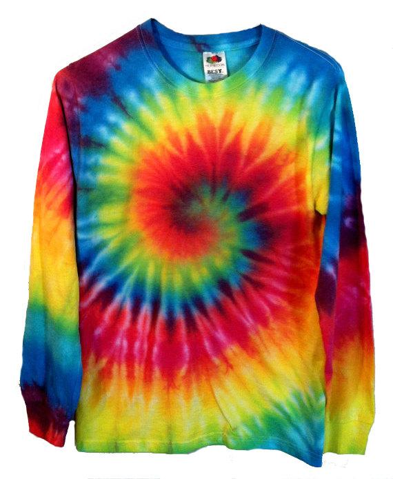 fa4a302bfbc Tie Dye Shirt Long Sleeve Rainbow Spiral by RainbowEffectsTieDye