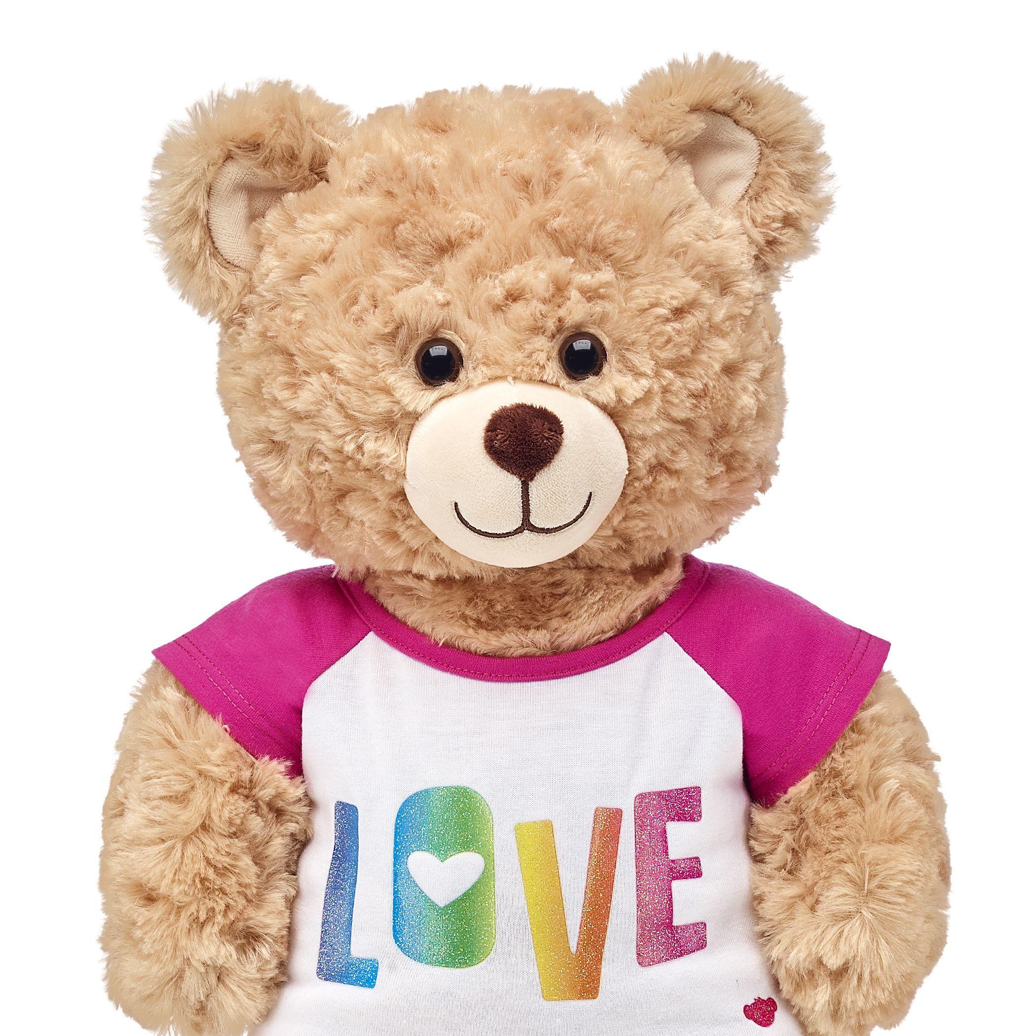 Stuffed Animal Bear Doll T-shirt  Assorted Colors NEW