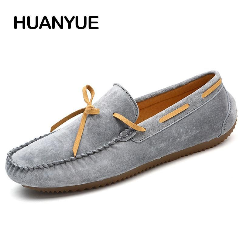 9560e321c3e7 Spring Summer Men Casual Shoes 2018 Fashion Men Shoes Leather Men Loafers  Soft Moccasins Slip On Driving Shoes Flat Male Shoes. Yesterday s price  US   92.20 ...