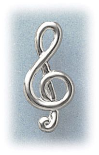 Simply Whispers jewelry pierced earrings posted silver stainless steel clef note