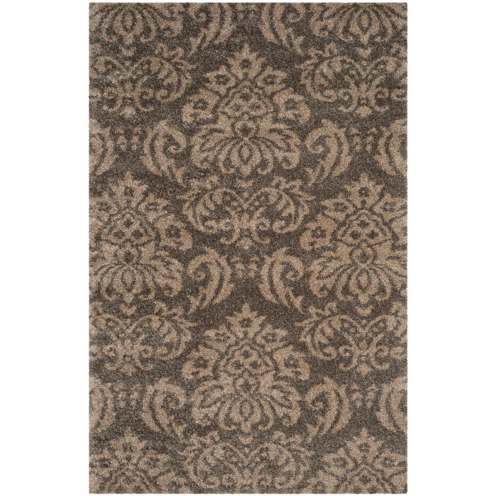 Safavieh Florida Shag Smoke Beige 8 Ft X 10 Ft Area Rug Beige