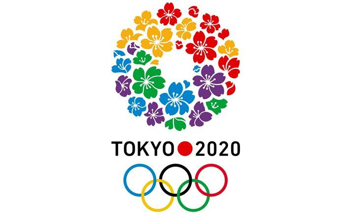 Summer Olympics 2020.Download Wallpapers Tokyo 2020 Logo White Background 2020