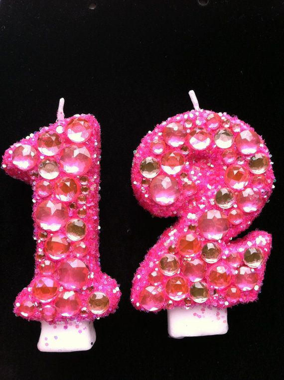 Glamour Princess 12th Birthday Candle Made To By LittleMissMraz 2000