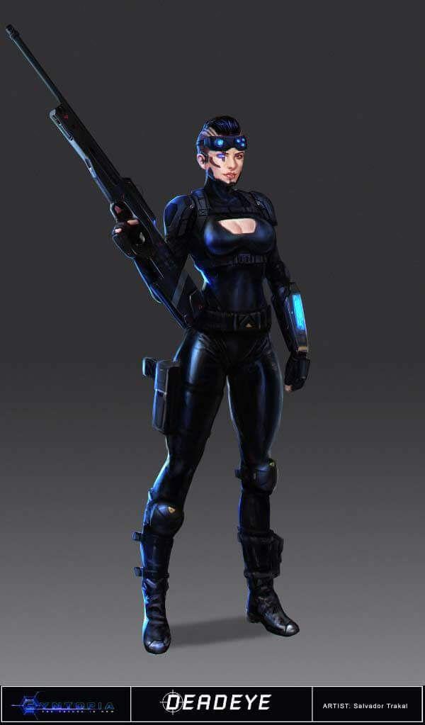 Cyberpunk Character Concept Art Girl