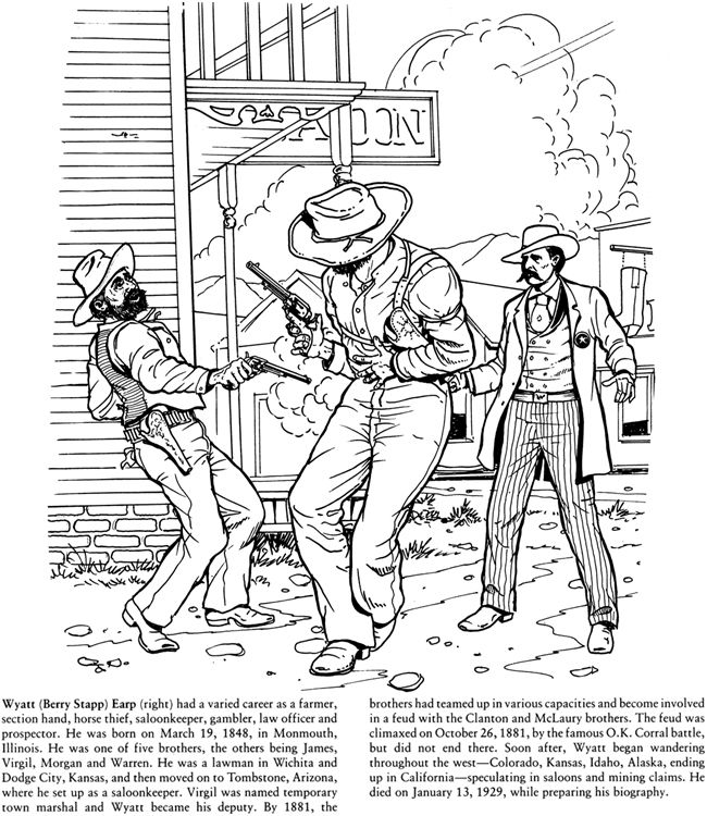 Big Book Of The Old West To Color Coloring Pages Coloring Books