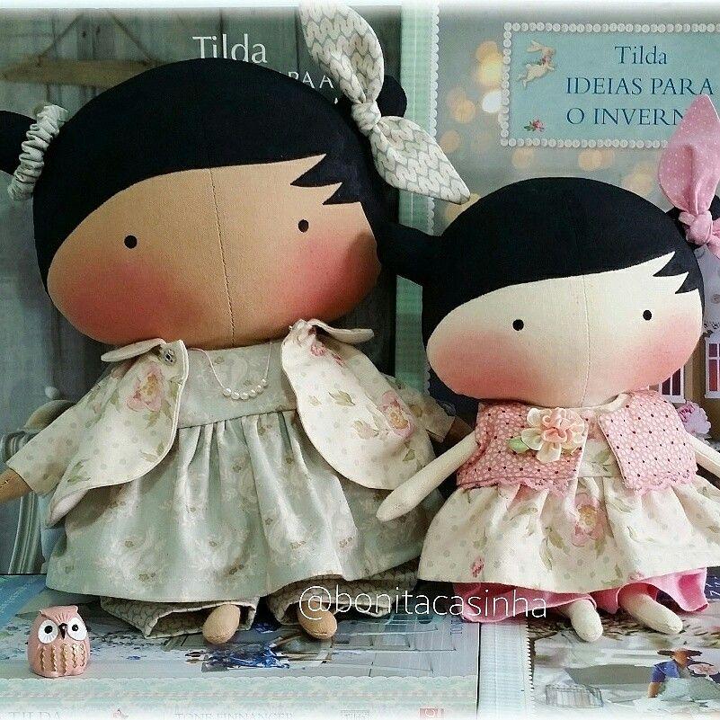 Tilda Toy 30cm morena e 24cm clara. Lindinhas. baby Tilda   Tilda ...
