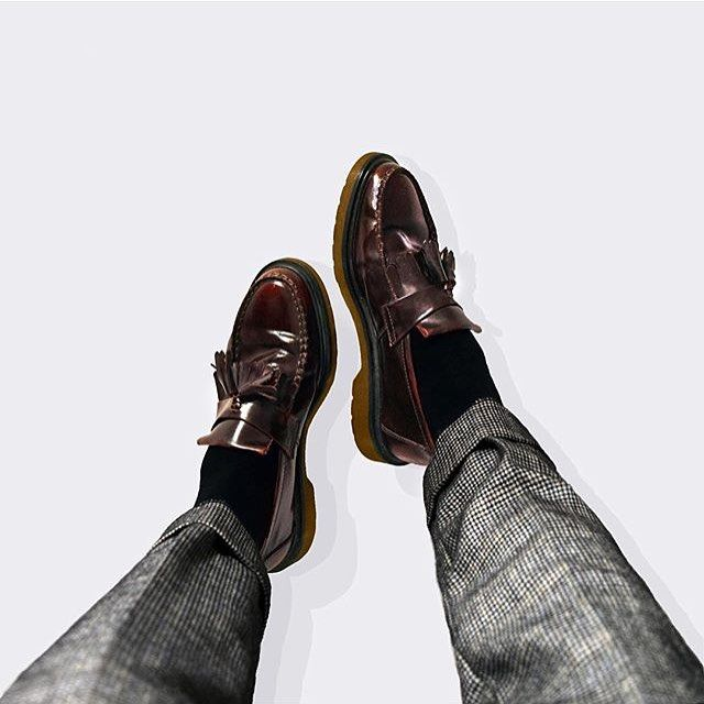 Docs of the day shared by  dvd ian Wearing  DrMartens Adrian Loafers in  Cherry Red.  drmartenstyle a934979250c