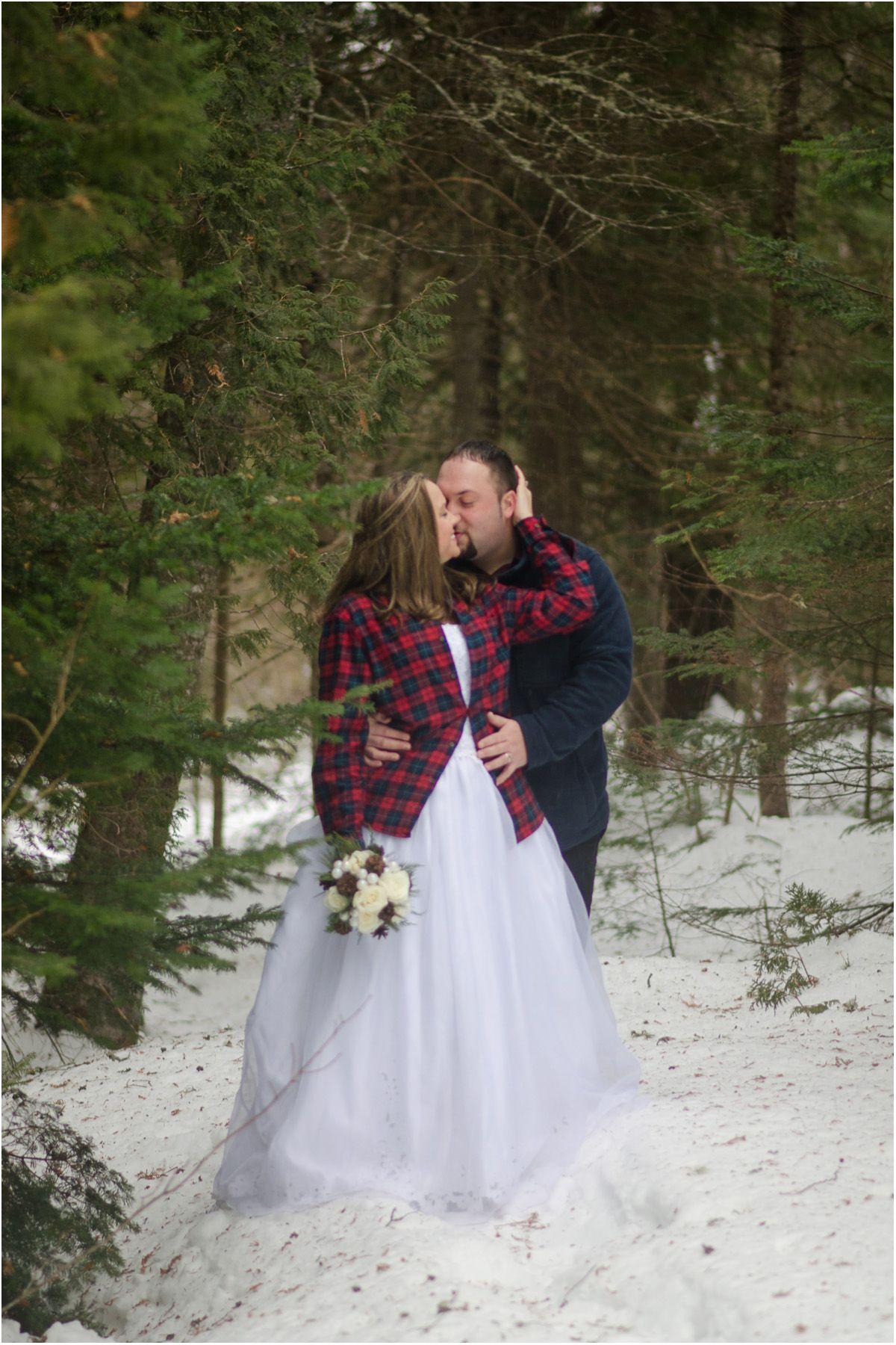 Maine Winter Wedding Rustic Winter Wedding