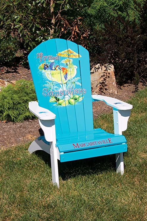 Margaritaville Outdoor Patio Wood Adirondack Chair in 2020