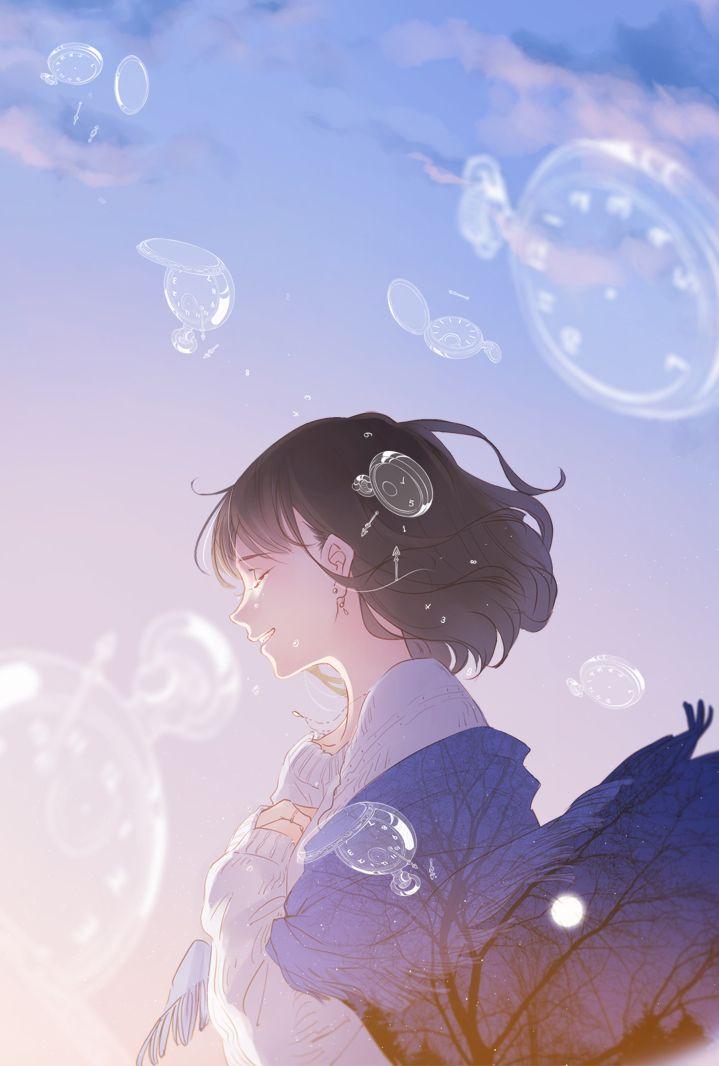 Smile ajimita pixiv anime girl short black hair