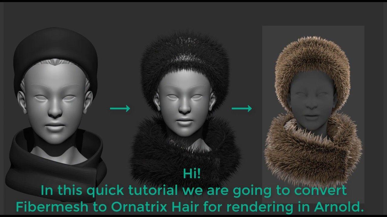 ZBrush Fibermesh to Ornatrix hair for Maya | CG Hair/Fur